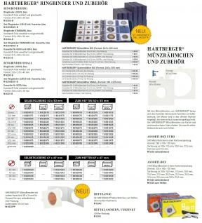 Hartberger 8300-B Münzringbinder Münzalbum LUXUS Album (leer) ideal für Münrähmchen - Vorschau 4