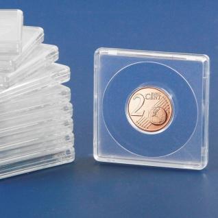 2 x SAFE 3119 Quadratische Münzkapseln Münzdosen Square 50x50 mm glasklar für Münzen bis 19 mm - Ideal für 2 Cent & 5 Pfennig & 1/10 OZ China Panda Gold