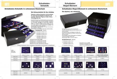 SAFE 5908 Schwarze Sammelvitrine Vitrinen in Klavierlack Optik für 12 Schreibgeräte - Füller - Füllfederhalter - Kulgelschreiber usw. - Vorschau 3
