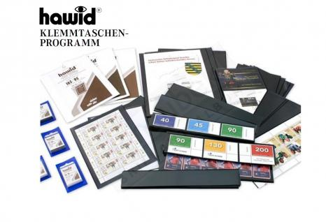 HAWID HA 7041 / HA7041 BLAUE Packung 50 Zuschnitte 36x30 mm glasklare Klemmtaschen