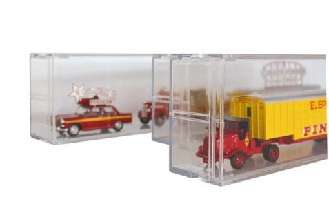 LINDNER 4810 EXPO Sammel System Box Setzkasten Vitrine glasklar für Werbetrucks