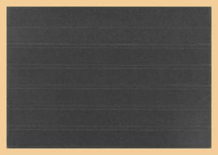 50 x A5 KOBRA K06 Extra starker Karton Einsteckkarten Steckkarten Schwarz Vorderseite versiegelt 210 x 147 mm mit 6 Streifen 202 x 16 mm - Vorschau 2
