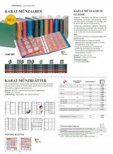 LINDNER 1106EK-B Münzalbum Karat CLASSIC Blau + Kassette + 10 x Münzhüllen MIX + 10 rote ZWL Zwischeneinlagen - Vorschau 2