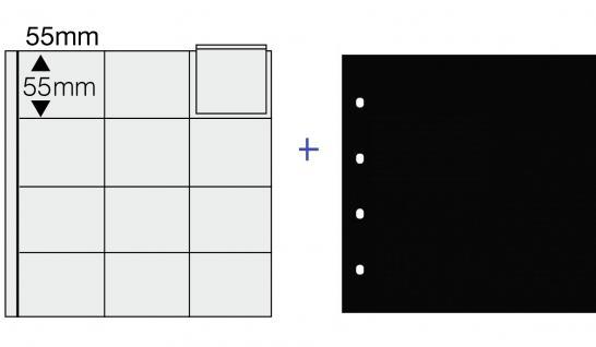 1 SAFE 812 COIN Combi Münzblätter Ergänzungsblätter 12 x 50 x 55 mm Für Münzrähmchen Standard 50x50