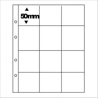5 x SAFE 7400 PREMIUM Münzblätter Ergänzungsblätter für 12 Münzrähmchen Carree Octo Quadrum Münzkapseln
