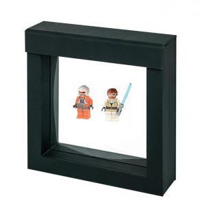 LINDNER 4839 NIMBUS 100 Schwarz Sammelrahmen Schweberahmen 3D 100x100x25 mm Für Lego Mni Figuren Star Wars usw.