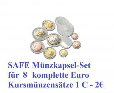 40 SAFE 6790-XL Münzkapseln Set 16, 5 - 19 - 20 - 21, 5 - 22, 5 - 23, 5 - 24, 5 - 26 mm Für 5 komplette EUROMÜNZEN KMS Sätze 1, 2, 5, 10, 20, 50 Cent & 1, 2 Euromünzen Kursmünzensätze