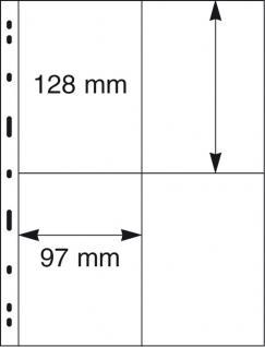 5 x LINDNER 099 UNIPLATE Blätter, glasklar 4 Taschen 97 x 128 mm Für Blocks Banknoten