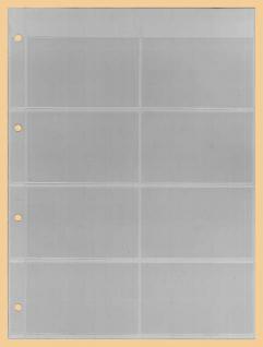 10 x KOBRA E142 Combi Einsteckblätter glasklar 8 Taschen 96x61 mm - Für Telefonkarten Visitenkarten