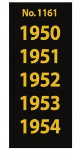 SAFE 1161 SIGNETTEN Aufkleber Jahreszahlen Year dates 1950 1951 1952 1953 1954