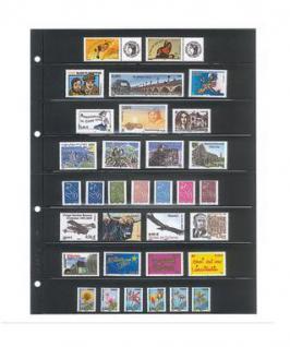 10 x LINDNER 4108 Einsteckhüllen Ergänzungsblätter Publica L A4 8 Taschen / Streifen schwarz 33 x 220 mm Für Briefmarken