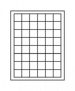 Lindner 2148C Münzbox Münzboxen Carbo schwarz 48 x 30 mm quadratische Vertiefungen 5 DM 5 Euro ÖS - Vorschau 1