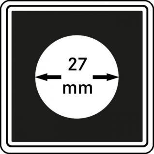 1 x LINDNER 2240027 Münzkapseln / Münzenkapseln CARREE 27 mm Für 2 DM - 2 Reichsmark Silber - 5 Euro Blauer Planet