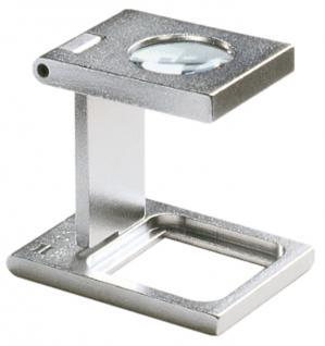 LINDNER 7176 Eschenbach Metall Lupe Standlupe Fadenzähler 10 fache Vergrößerung Linse 14, 6 mm
