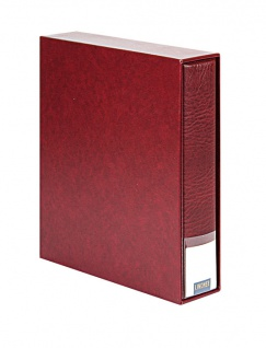LINDNER 3533-W Weinrot - Rot Publica LS Ringbinder Album Universal A4 + Schutzkassette (leer) zum selbst befüllen