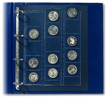 2 x SAFE 5410 Compact A4 Münzhüllen Ergänzungsblätter Hüllen 15 Fächer bis 44 mm + schwarze ZWL