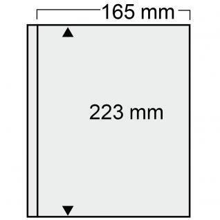 10 SAFE 7872 Compact Ergänzungsblätter Hüllen 1 Tasche 165 x 223 mm glasklar Für Banknoten - Briefe - ETB Ersttagsblätter