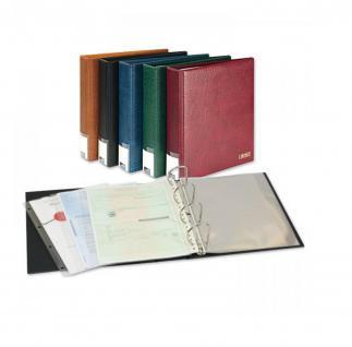 LINDNER 3506DK-S Schwarz Publica L Ringbinder Album Dokumentenordner & Dokumentenmappe + 20 Hüllen DIN A4 glasklar