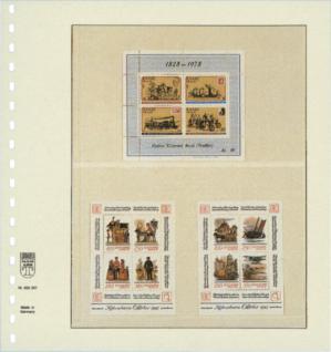 10 x LINDNER 802207P T-Blanko-Blätter Blankoblatt 18-Ring Lochung - 2 Taschen 110 / 122 x 189 mm - Vorschau 2