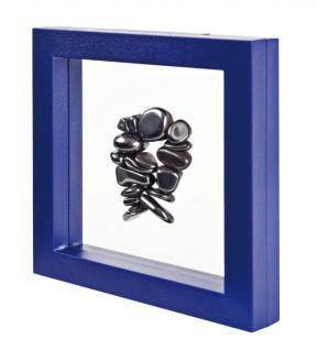 LINDNER 4836B NIMBUS ECO Blau Sammelrahmen Schweberahmen 3D 100x100x25 mm Für Mineralien - Fossilien - Bernstein - Opale