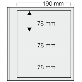 1 x SAFE 613 dual Blankoblätter Einsteckblätter Ergänzungsblätter mit je 3 Taschen 190 x 78 mm Für Briefmarken - Banknoten - Briefe - Postkarten