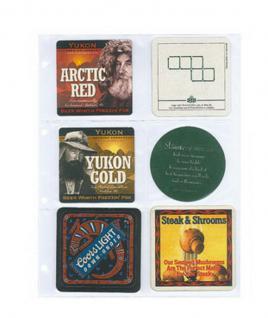 1 Lindner 8846 Ergänzungsblätter Einsteckhüllen PUBLICA L DIN A4 6 Taschen 110x98 mm Für Bierdeckel - Vorschau 1