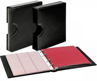 LINDNER 1106EK-W Münzalbum Karat CLASSIC Weinrot - Rot + Kassette + 10 x Münzhüllen MIX + 10 rote ZWL Zwischeneinlagen - Vorschau 5