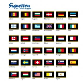 1 x SAFE 1175 SIGNETTE Flagge Estland - Estonia Aufkleber Kennzeichnungshilfe - selbstklebend - Vorschau 2