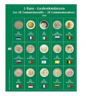 SAFE 7341-21 Premium Münzblätter 7393 mit Vordruckblättern 2 Euro Münzen Gedenkmünzen 2018
