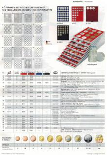 LINDNER 2924 Münzbox Münzboxen Rauchglas 48 x 1 EURO Cent 1 Pfennig 1 Reichspfennig in Münzkapseln - Vorschau 3