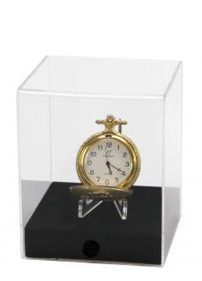 """SAFE 5287 Acryl Präsentations Uhren Vitrinenwürfel """" CUBE M """" Glasklar 100 x 100 x 120 mm Taschenuhren - Vorschau 1"""