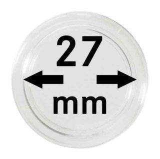 10 LINDNER Münzkapseln / Münzenkapseln Capsules Caps 27 mm 2250027P