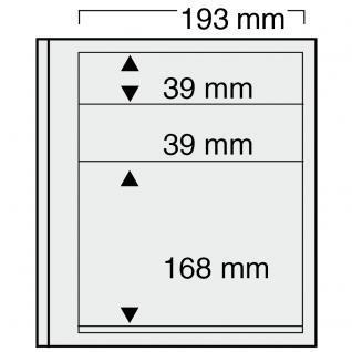 10 x SAFE 7132 EURO-SYSTEM Graue Einsteckblätter Ergänzungsblätter 3 Klemstreifen Mixed 2x - 193 x 39 & 1x - 193 x 168 mm - Vorschau 1