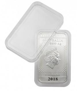 1 x LINDNER S22552747P Rechteckige Münzkapseln Münzenkapseln Innen 27x47 mm Für 1 Oz Australien - Vorschau