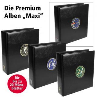 SAFE 7362 PREMIUM MAXI 2 EUROMÜNZEN MÜNZALBUM extra Breit (leer) für bis zu 20 Münzblätter mit Vordrucken für 2 Euro Gedenkmünzen - Vorschau 4
