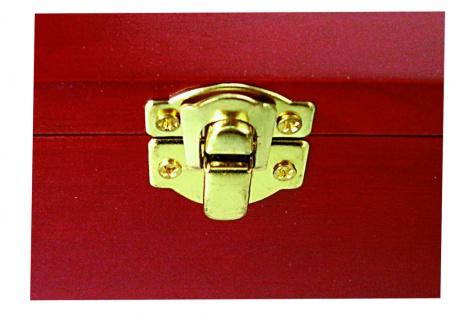 SAFE 5870 Postkartenbox Kassette aus Holz mahagonifarbend mit wechselbarer Deko Karte + 5 Leitkarten für bis zu 400 Karten - Vorschau 3