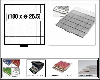 SAFE 6609-6 BEBA MÜNZBOXEN 81 quadratische Fächer 29, 6 mm + weiße Kartoneinlagen Für 5 DM - 5 Euro Blauer Planet Erde / Klimazonen