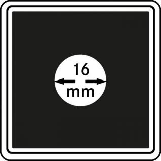 1 x LINDNER 2240016 Münzkapseln / Münzenkapseln CARREE 16 mm - Für 5 Senti Estland - 1 Rappen CHR - 1/20 OZ Krügerrand - 1 Cent Euro