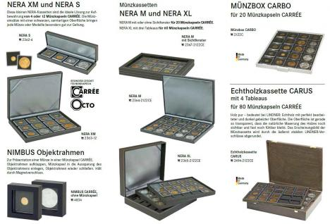 1 x LINDNER 2240019 Münzkapseln / Münzenkapseln CARREE 19 mm Für 5 & 50 Rappen CHR - 5 Pfennig - 2 Cent Êuro - Vorschau 4