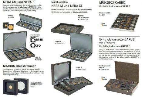 1 x LINDNER 2240024 Münzkapseln / Münzenkapseln CARREE 24 mm Für 50 Cent State Quarters - 1 DM - 1 Mark Kaiserreich - 5 ÖS Schillinge - 50 Cent Euro - Vorschau 4