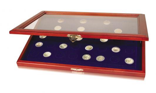 SAFE 5868 Echtholz Holz Vitrinen 40 x 2 EUROMÜNZEN Gedenkmünzen