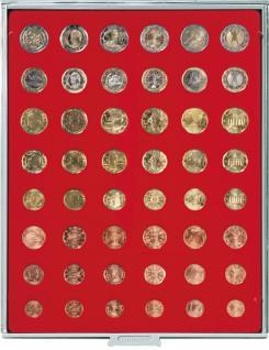 LINDNER 2506 Münzbox Münzboxen Standard 6 komplette Euro Kursmünzensätze KMS 1 Cent - 2 Euromünzen