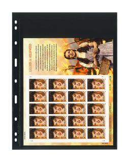 1 x LINDNER 071 UNIPLATE Blätter, schwarz 1 Streifen / Tasche 258 x 194 mm Für Gr. Belege Briefe Blocks Banknoten