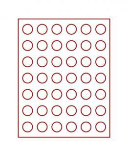 LINDNER 2107E Velourseinlagen Hellrot für Münzbox Münzboxen Kassetten Münzkoffer - Vorschau 2