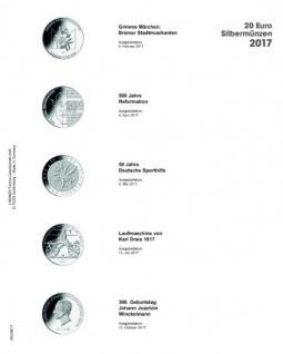 1 x LINDNER MU20E17 Multi Collect Münzblätter Münzhüllen Vordruckblatt Deutsche 20 Euro Gedenkmünzen 2017