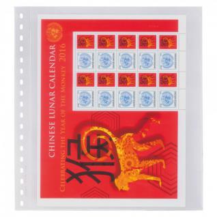 1 x LINDNER 833 Klarsichthüllen Banknotenhüllen 1 Tasche Streifen 240 x 290 mm mit weißen Zwischenblättern
