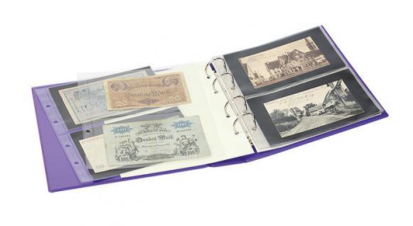 LINDNER S3540BN - 5 - Nautic Blau MULTI COLLECT Banknotenalbum PUBLICA M COLOR + 10 Blätter Mixed 2er & 3er Teilung - Vorschau 3