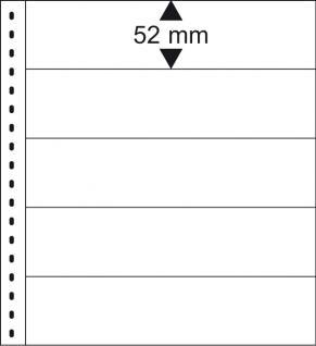 10 x LINDNER 013P Omnia Einsteckblätter weiss 5 Streifen x 52 mm Streifenhöhe