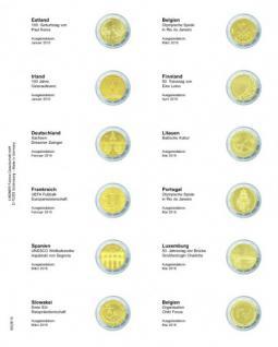 1 x LINDNER MU2E16 Multi Collect Münzhüllen Münzblätter Vordruckblatt 2 Euro Gedenkmünzen Estland Jan 2016 - Belgien Mai 2016