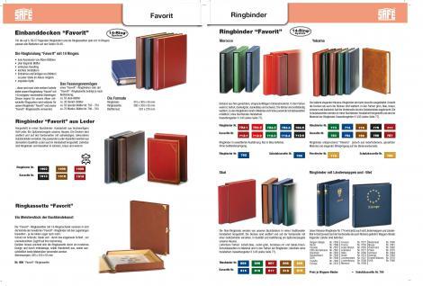SAFE 7056 Yokama Ringbinder Album Favorit Blau mit Länderwappen Wappenbinder + Titel Italien / Italia Für Banknoten - Postkarten - Briefe - Fotos - Bilder - Briefmarken - Vorschau 2